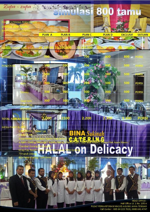 simulasi 800 tamu, Catering Semarang Bina Sakinah, H. Supardan Assidqie, 0888 641 4747